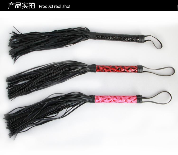 阿芙拉 钻石纹情趣用品SM束缚玩具皮鞭 红色